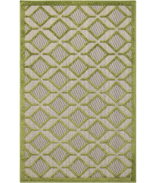 Blane Green Indoor/Outdoor Area Rug by Langley Street