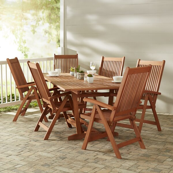 Monterry 7 Piece Indoor/Outdoor Dining Set by Beachcrest Home