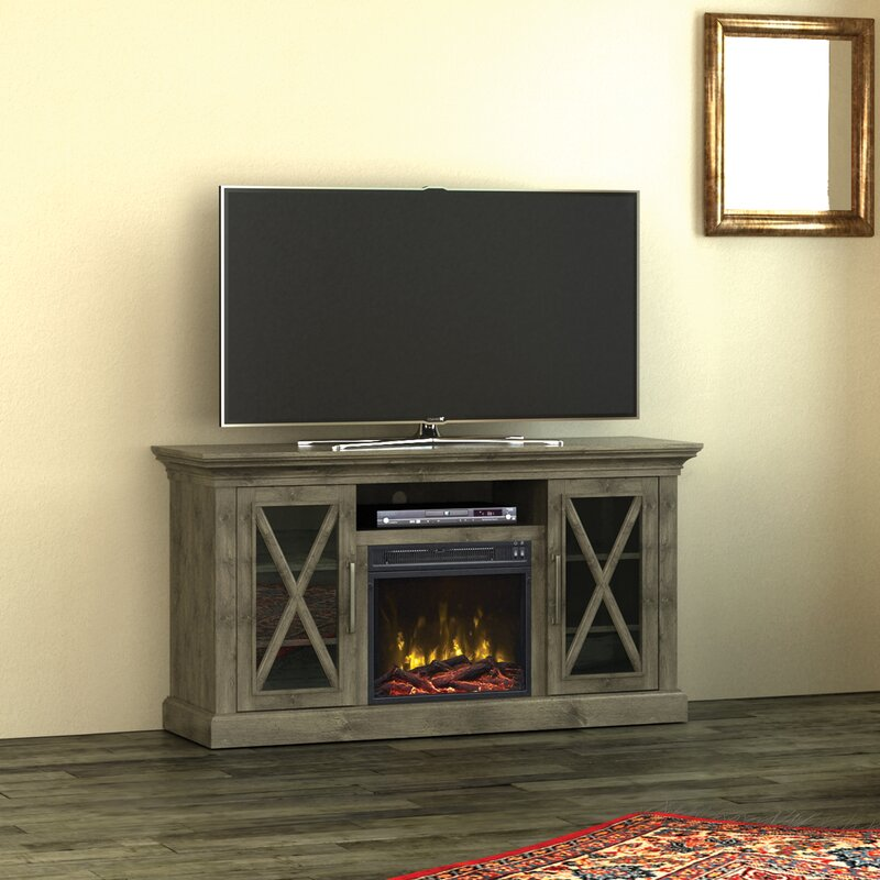 Electric Fireplace 60 inch electric fireplace tv stand : Loon Peak Fischer 54