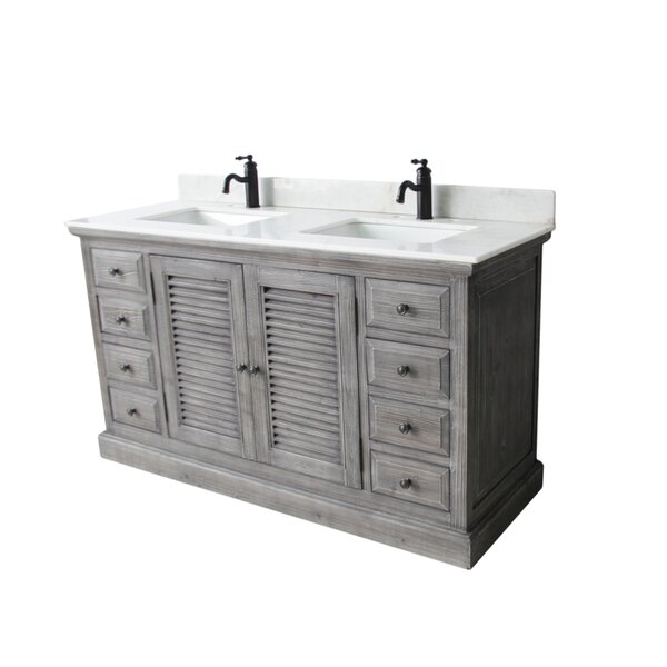 Nippal 60 Double Bathroom Vanity Set by Rosecliff Heights