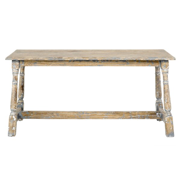 Carnation Wood Bench by Highland Dunes