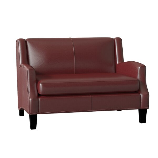 Review Kane Leather Loveseat