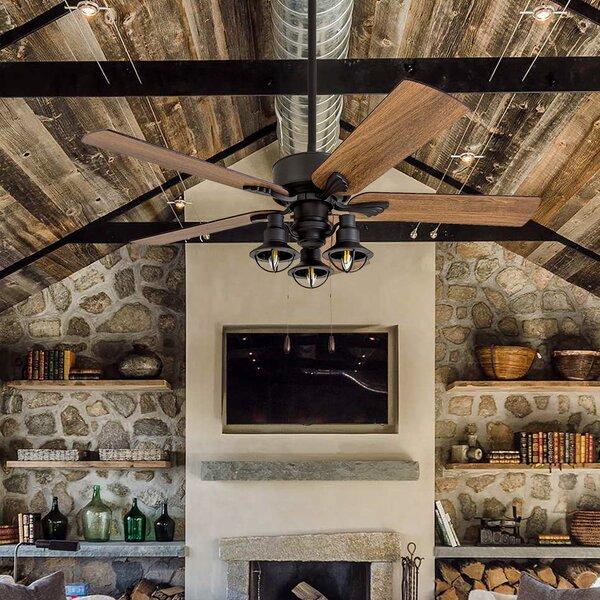 52 Ratcliffe 5 Blade LED Ceiling Fan by Gracie Oaks
