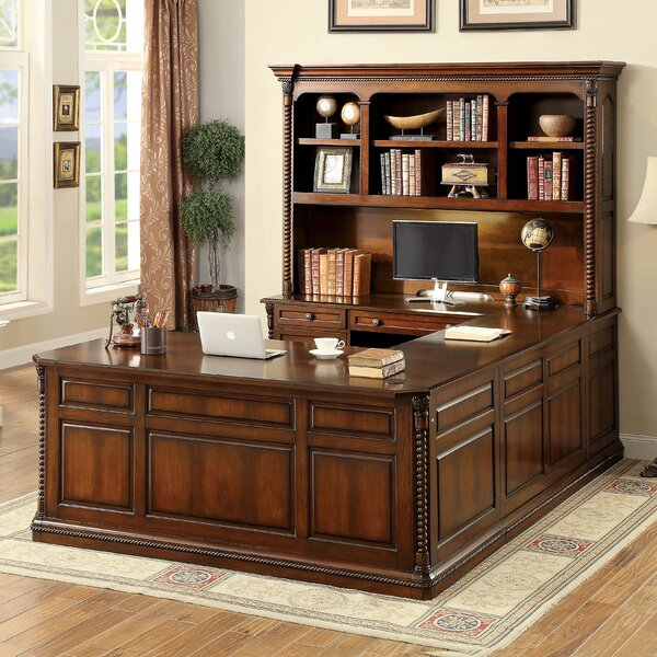 Antoine 4 Piece U-Shape Desk Office Suite by Darby Home Co