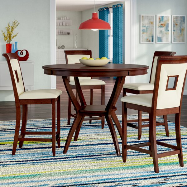 Deherrera 5 Piece Counter Height Dining Set by Latitude Run