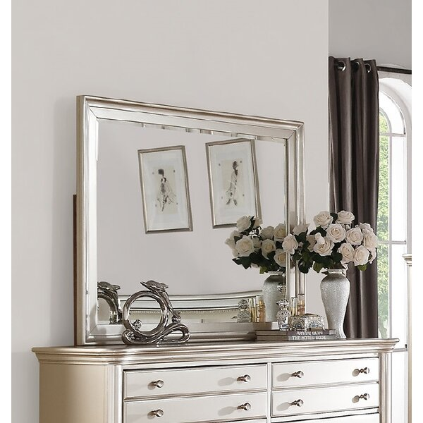 Tiya Rectangular Dresser Mirror by House of Hampton