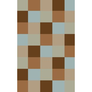 Find Steinberger Blocks Brown Area Rug By Red Barrel Studio