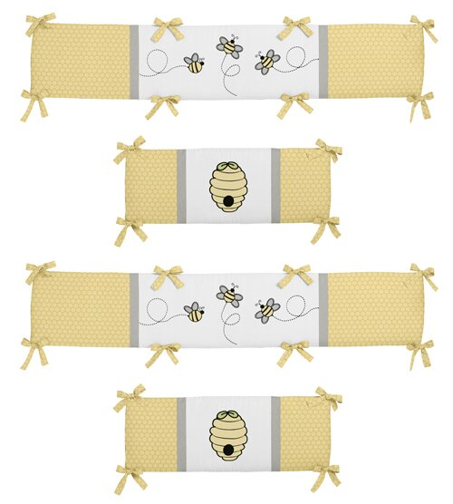 Honey Bee Crib Bumper by Sweet Jojo Designs