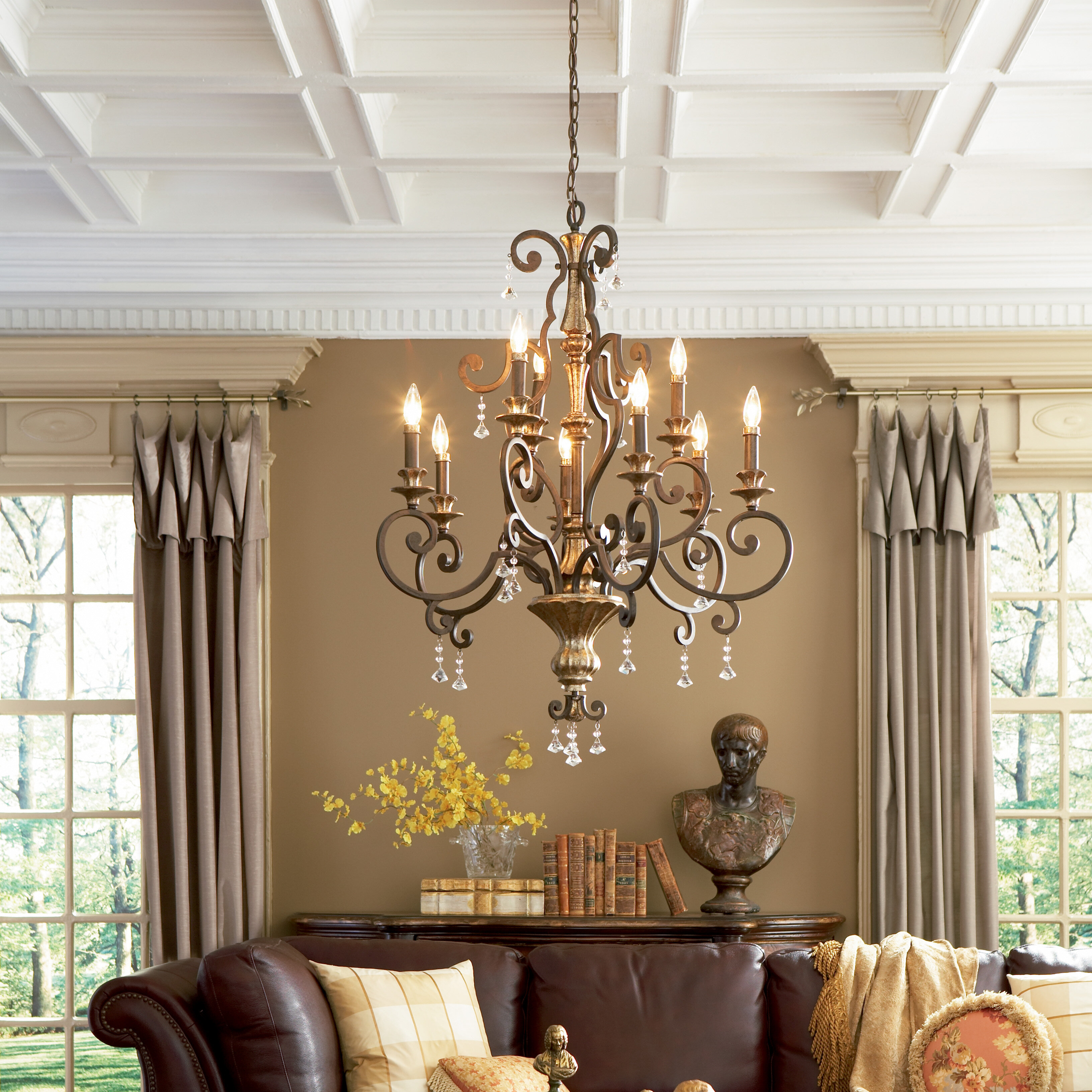 Astoria grand windsor rise 9 light candle style chandelier astoria grand windsor rise 9 light candle style chandelier reviews wayfair arubaitofo Gallery