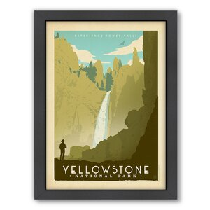 National Park Yellowstone 02 Framed Vintage Advertisement by East Urban Home