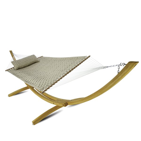 Laffey Large Soft Weave Double Tree Hammock by Latitude Run Latitude Run