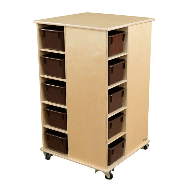 Spinner Double Sided 20 Compartment Cubby with Trays by Wood Designs