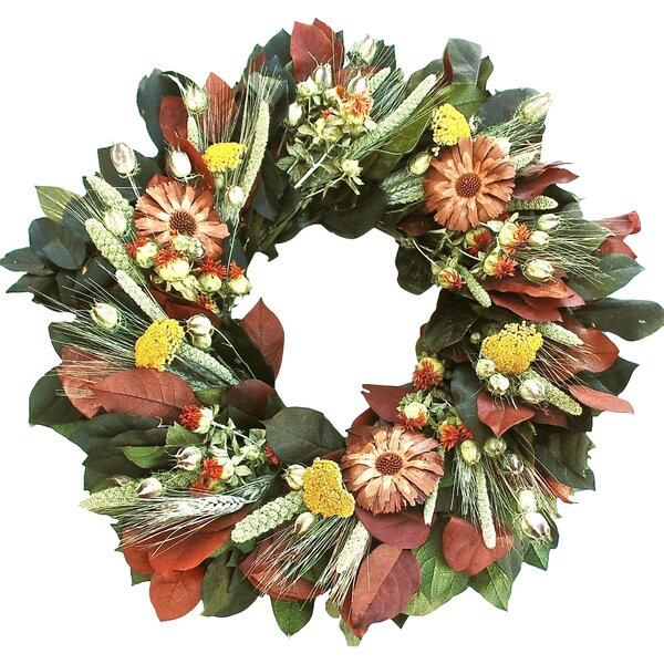 Cone Flower Wreath by Dried Flowers and Wreaths LLC