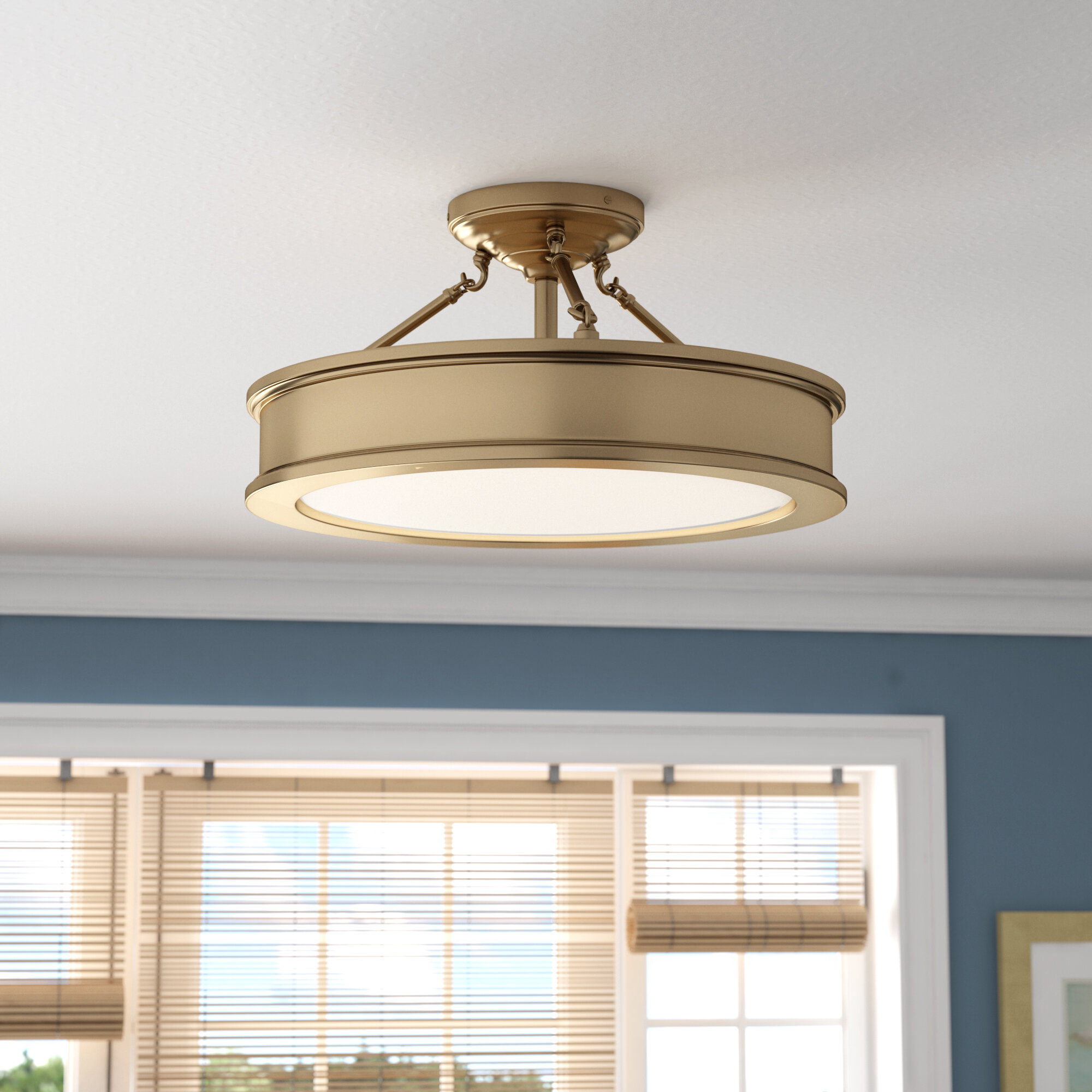 Bowers 3 Light Semi Flush Mount