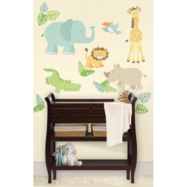 Caileigh Safari Buddies Large Wall Decal Kit by Zoomie Kids