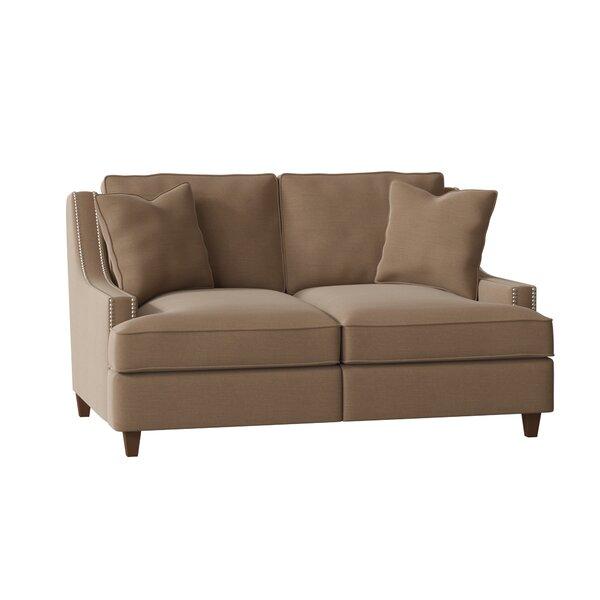 Tricia Power Hybrid Reclining Loveseat by Wayfair Custom Upholstery��