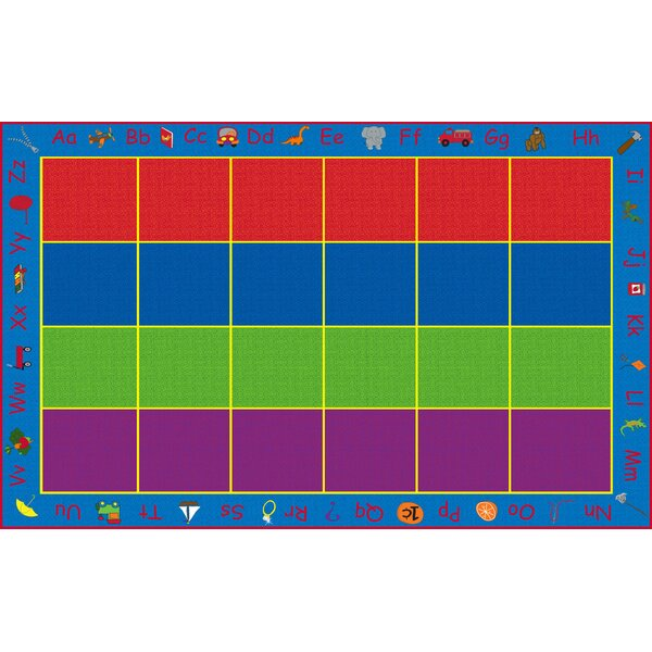 ABC Rainbow Seating Area Rug by Kid Carpet