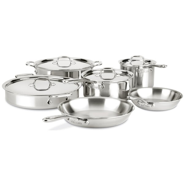 D3 Compact 10 Piece Stainless Steel Cookware Set by All-Clad
