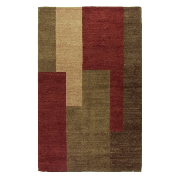 Core Hand-Knotted Wool Brown/Red Area Rug by Artisan Carpets