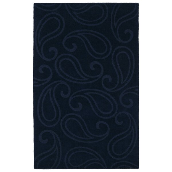 Annetta Navy Solid Area Rug by Winston Porter