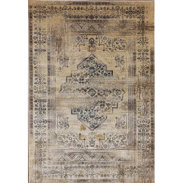 Eaman Cream Area Rug by World Menagerie