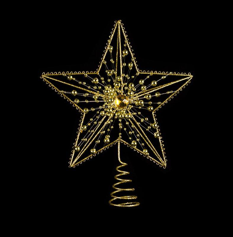 Metal Jeweled Star Tree Topper