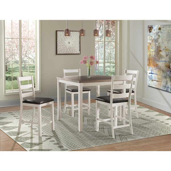 Mavis 5 Piece Counter Height Pub Table Set by Alcott Hill Alcott Hill