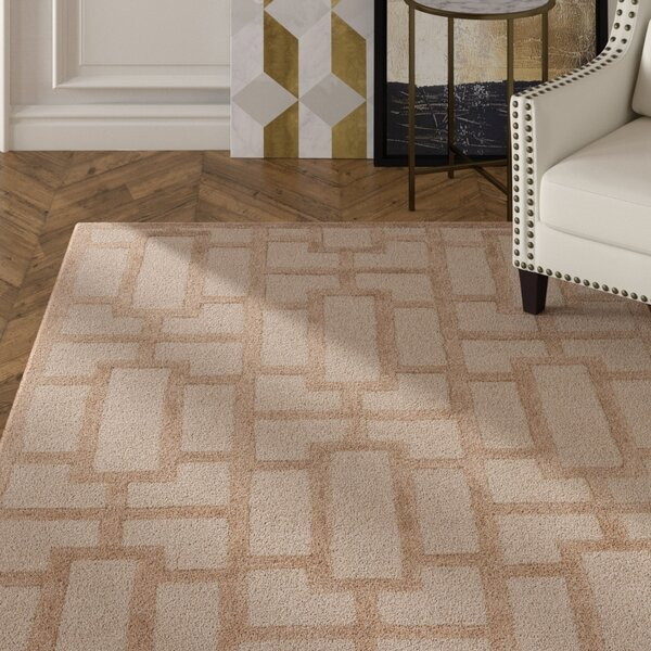 Perpetua Hand-Tufted Tan Area Rug by Mercer41