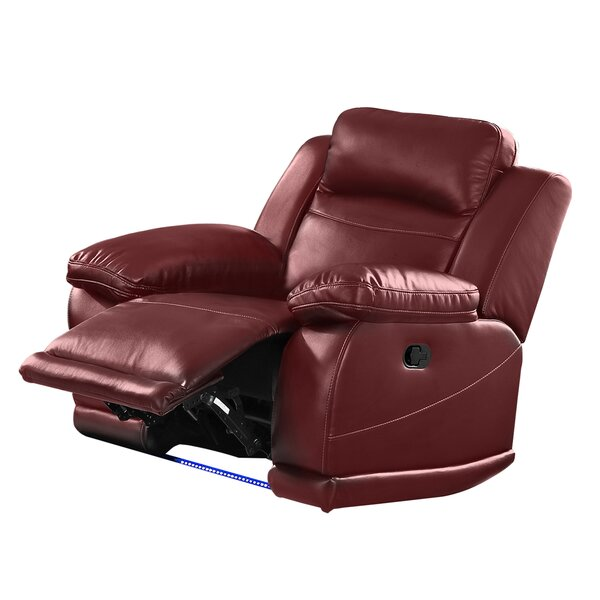 Nuremberg Faux Leather Manual Glider Recliner W002455078