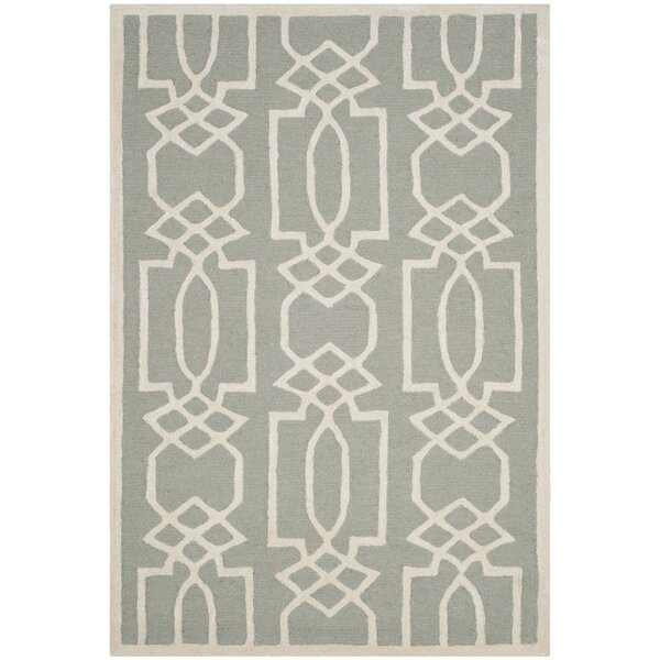 Mcguire Hand-Tufted Gray/Ivory Area Rug by Willa Arlo Interiors