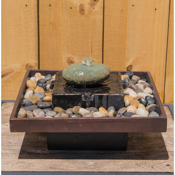 Concrete Tranquil Indoor Table Fountain by Wildon Home ®