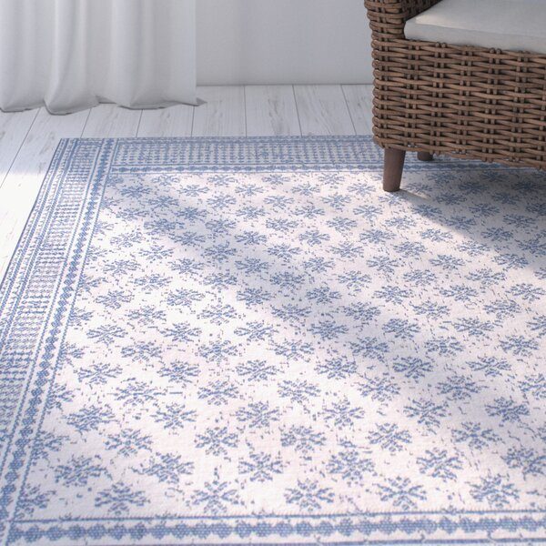 Valrie Blue Indoor/Outdoor Area Rug by Ophelia & Co.