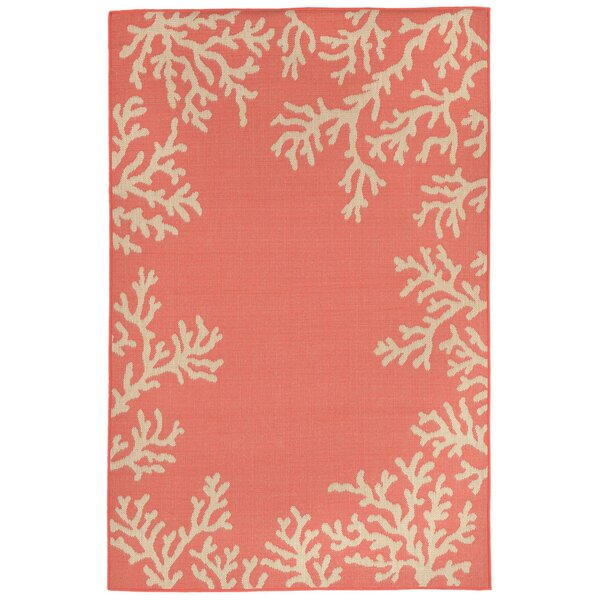 Claycomb TER Hand-Tufted Orange Indoor/Outdoor Area Rug by Highland Dunes