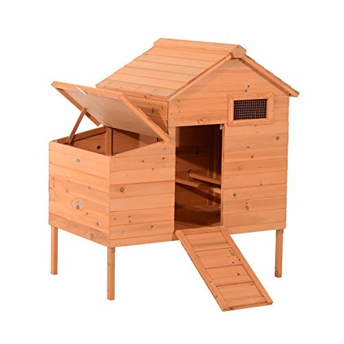 Outdoor Raised Leg Wooden Chicken Coop by Pawhut