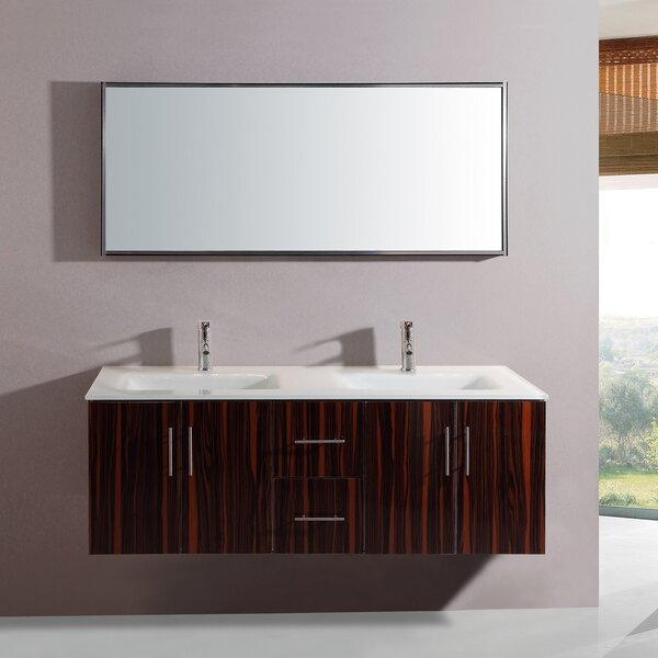 Aster 55 Double Vanity Set with Mirror by Orren Ellis