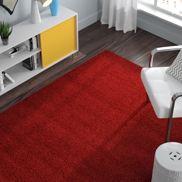 Madison Basic  Cherry Red Area Rug by Zipcode Design