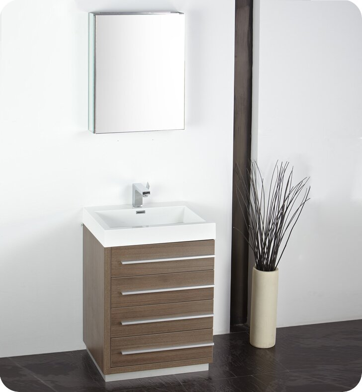 Senza 24 Single Bathroom Vanity Set With Mirror