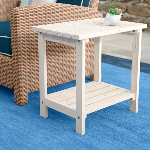 Arcel Rectangular Cedar Side Table by Beachcrest Home