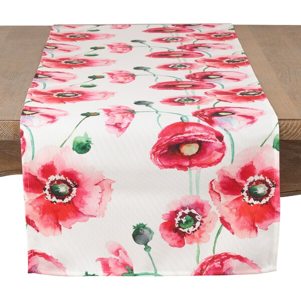 Queens Poppy Garden Table Runner by Winston Porter