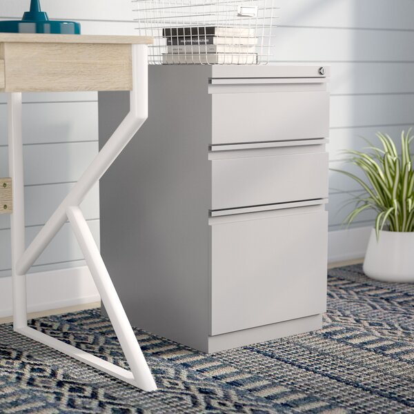3 Drawer Mobile Vertical Filing Cabinet by Rebrilliant