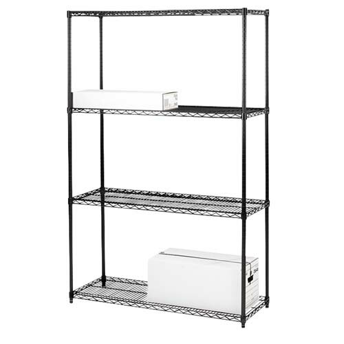 Industrial Adjustable Wire 72 H 3 Shelf Shelving Unit by Lorell