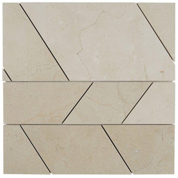 Harrison Random Sized Marble Mosaic Tile in Crema Marfil Classico by Itona Tile