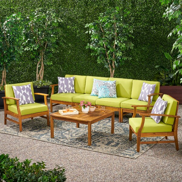 Antonia 6 Piece Sofa Seating Group With Cushions By Mistana by Mistana Wonderful