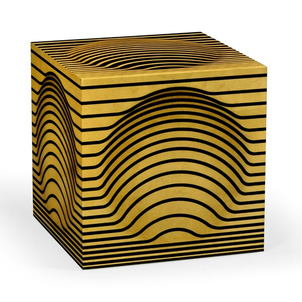 Op Art Cube Ottoman by Jonathan Charles Fine Furniture