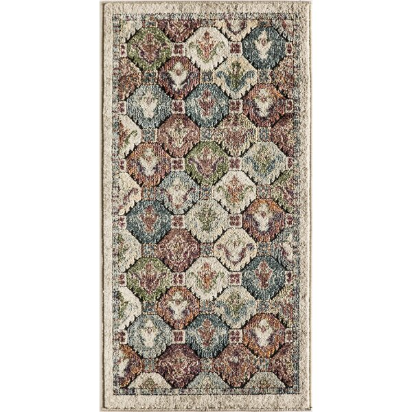 Kauffman Blue/Brown Area Rug by World Menagerie