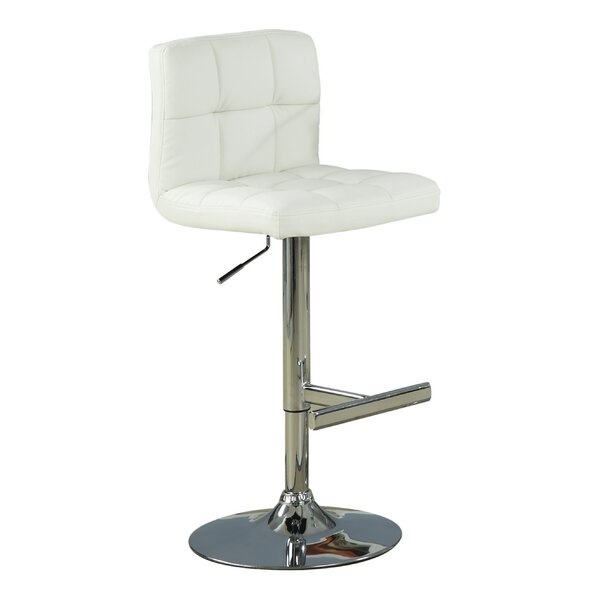 Harish Adjustable Height Swivel Bar Stool (Set of 2) by Orren Ellis
