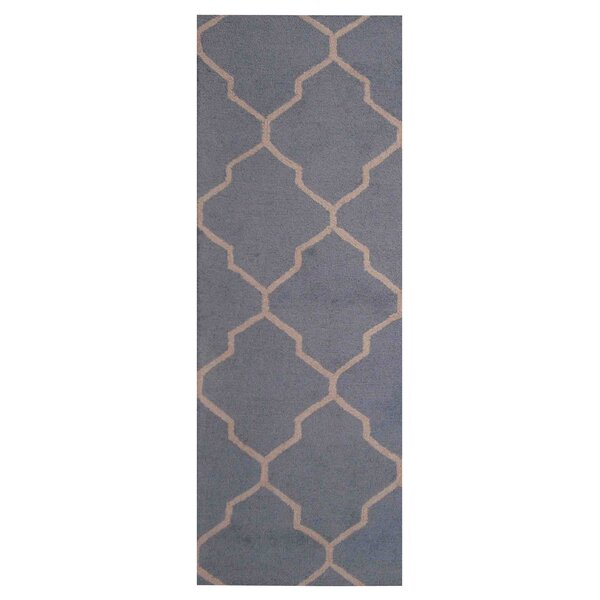 Hand-Tufted Light Blue/Beige Indoor Area Rug by Herat Oriental