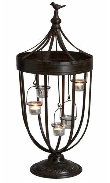 Bird Decorative Iron/Glass Tealight by Transpac