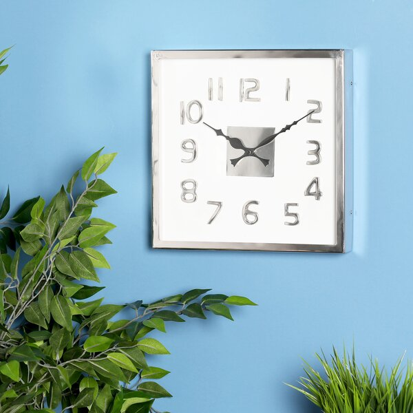 Letha Modern Square Wall Clock by Latitude Run