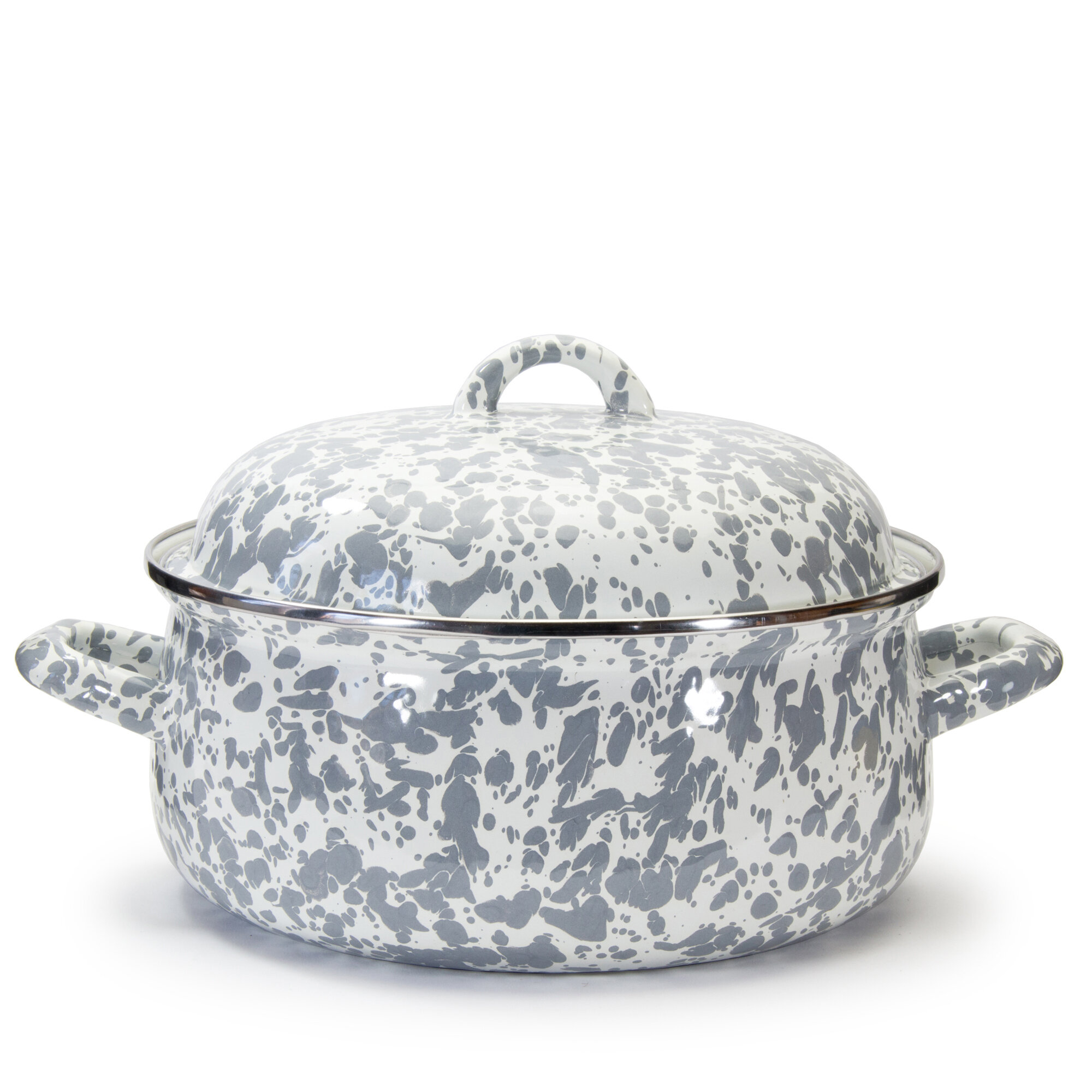 Ivy Bronx Gadberry 4 Qt. Porcelain Round Dutch Oven with Lid